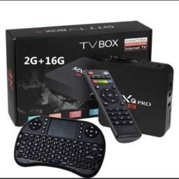 TV Box + Teclado Mouse 2gb RAM e 16GB Sem Taxa de entrega pra Goiânia e Aparecida