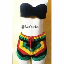 Short Reggae de Crochê