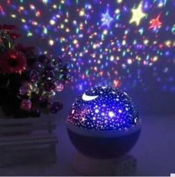 Luminária projetor de estrelas