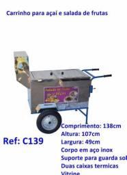 CARRINHO AÇAÍ / SORVETE / SALADA DE FRUTA (CARRO COM O TERCEIRO PNEU) para Facilitar!