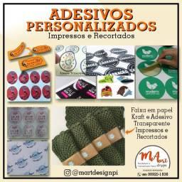 Etiquetas em Vinil Adesivo Impresso - *