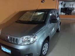 Fiat Uno Vivace 10 Fire Flex 8V 3p 2014 Cinza trava elétrica 2 air bag som BT Unica dona