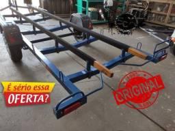 Reboque Carretinha Galvanizada para barcos, lanchas, voadeiras e etc.