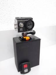 Câmera de ação 4k, prova dágua nova na caixa