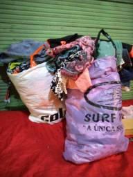 Sacola de roupas para bazar por 80 reais