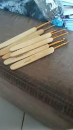 Kit de agulhas  cabo de bambu