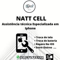 Natt cell manutenção em iphone