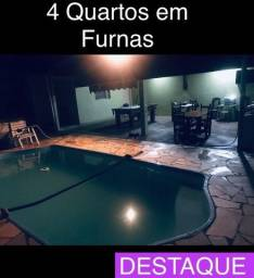Casa 4 quartos + Lote FurnasTur Formiga c Habite-se Financia