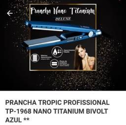 Prancha Tropic Profissional TP-1968 Nano Titanium Bivolt