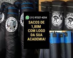 Sacos de Boxe Personalizados de 1,80m -Direto da Fábrica - MMA, Kickboxing