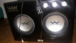 CAIXA DE SOM Ozaki WOW WR690 Subwoofer Dual Bass 2.2