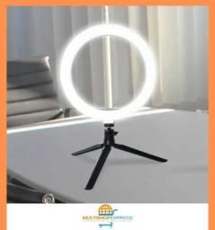 Iluminador Ring Light de Mesa Maquiagem Fotografia Vídeos