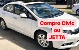 Compro Civic ou Jetta 2014 em diante