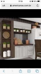 Cozinha Compacta Linda 4 Peças 3 Portas Marrom