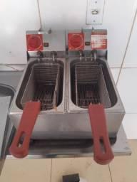 Fritadeira elétrica 2 cubas 8 litros