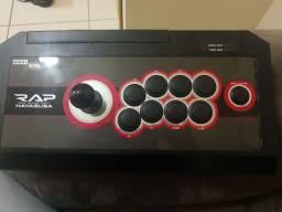 Controle Real Arcade Pro V Hayabusa Hori PS3/PS4 e PC