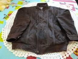 Jaqueta de couro legitimo marrom