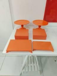 Kit desapego 6 peças laranja