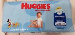 Fralda Huggies G com 36 unidades