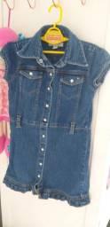 Vestido jeans 4/5 anos 20,00