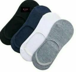 Kit/12 par de meias cano curto soquete  invisível  unissex