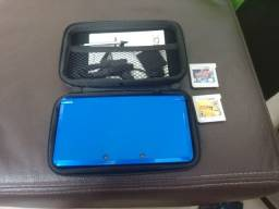 Título do anúncio: 3ds Azul Cobalto + 2 Jogos