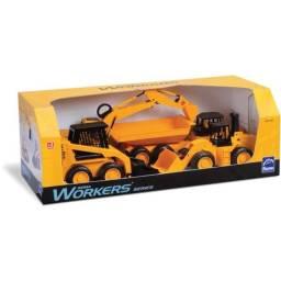 Brinquedo trator worcks series com 4