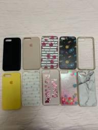 10 capinhas iphone 7/8 plus