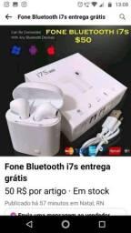 Fone Bluetooth i7s entrega grátis