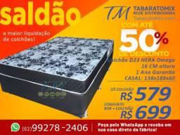 Ta Muuito Barato! Conj Casal Hera 16cm de Espuma Apenas R$699,00 ou até 12x s/j