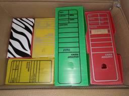 Caixas de arquivo morto em Plastico