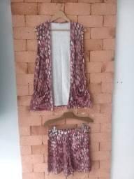 Conjunto Kimono Estampado