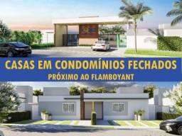 Condomínio fechado Goiânia - Casas com 2 Quartos sendo 1 Suíte