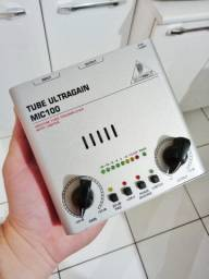 Pre Amplificador Microfone Behringer Ultragain Mic 100 Tube