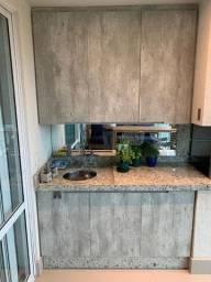 Armário Cozinha/Churrasqueira MDF Concreto