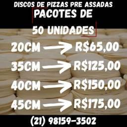 Discos de pizza pre assadas