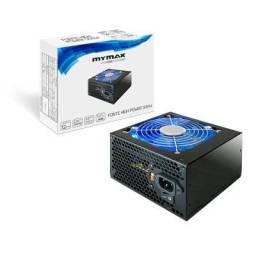 Fonte Atx 500w High Power Real 24 Pinos Led Azul Mymax (Promoção)