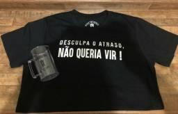 Camisas e camisetas de frases (Masculinas e Femininas) Adquira a sua!