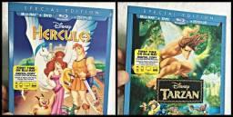Blu-ray Hercules + Tarzan / Clássicos Disney / Original / Dublado