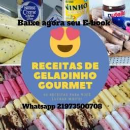 E-book de receitas de Geladinho Gourmet