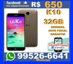 T.O.P LG K10 32GB dourado caixa_lacrada nota garantia_1_ano 562qhrg