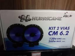 Kit 2 vias hurricance 6 polegadas novo Instalado
