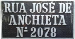Placa de endereço residencial