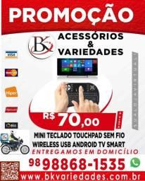 Mini Teclado Altomex com Led Touch Pad Wireless para TV Box PC,(Loja BK Variedades)