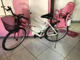 Bicicleta aro 26 com cadeirinha pra criança
