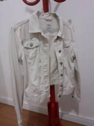 Jaqueta jeans gap branca p