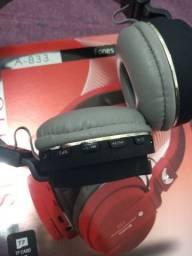 Fone de ouvido wireless A-833 sem fio
