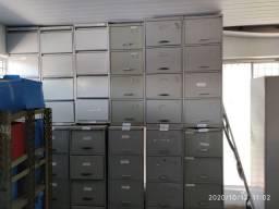 Lote Arquivo de aço 04 gavetas