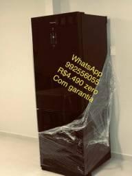 Linda geladeira Panasonic nova preto black