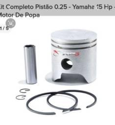 Kit completo pistão 0,25 motor de polpa Yamaha 15 hp